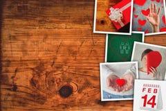 Коллаж изображения дня валентинок Стоковые Фотографии RF