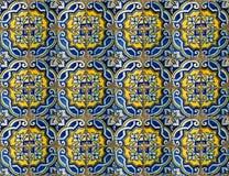 Коллаж керамических плиток от Португалии Стоковое Фото