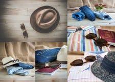 Коллаж комплекта различных одежд и аксессуаров для людей Стоковые Изображения RF