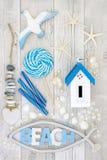 Коллаж конспекта искусства пляжа Стоковые Фото