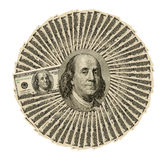 Коллаж конца-вверх долларов для предпосылки Стоковые Фотографии RF