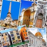 Коллаж красивой Италии Стоковое Фото