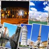 Коллаж красивой Италии Стоковое фото RF