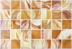 Коллаж кроет мрамор черепицей с красочными влияниями Стоковые Фотографии RF