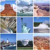 Коллаж наземных ориентиров США стоковое изображение