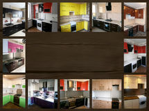 Коллаж на теме мебели Кухня Стоковые Изображения