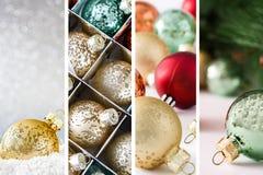Коллаж орнаментов рождества Стоковое Фото
