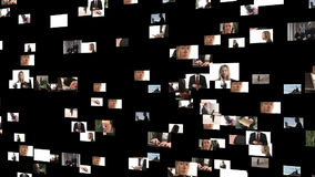 Коллаж отснятого видеоматериала бизнесменов акции видеоматериалы