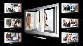 Коллаж отснятого видеоматериала дела акции видеоматериалы