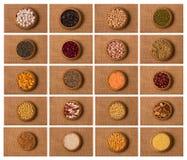 Коллаж от зерна стоковое фото rf