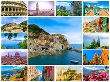Коллаж от фото Италии стоковое фото rf