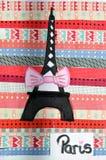 Коллаж Парижа Девушка искусства Стоковое фото RF