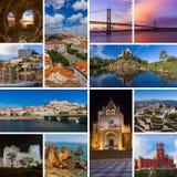 Коллаж перемещения Португалии отображает мои фото стоковое фото rf