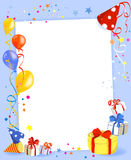 Коллаж праздника с подарками и воздушными шарами Стоковое Изображение RF