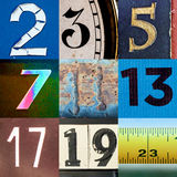 Коллаж простого числа Стоковое Изображение RF
