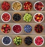 Коллаж плодоовощей и ягод Стоковая Фотография RF