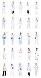 Коллаж разнообразных докторов стоковые изображения rf