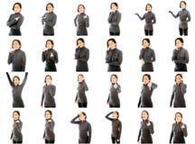 Коллаж различных выражений лица стоковое изображение rf