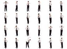 Коллаж различных выражений лица Стоковая Фотография