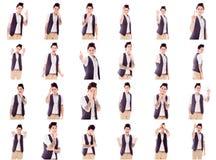Коллаж различных выражений лица Стоковая Фотография RF