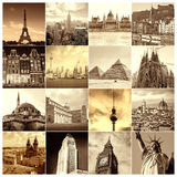 Коллаж различных городов Стоковое фото RF