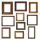 Коллаж различных изолированных рамок Стоковое Фото