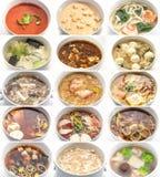 Коллаж различных супов Стоковое фото RF