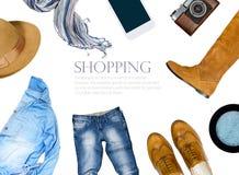 Коллаж собрания одежды женщин Стоковые Изображения