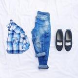 Коллаж собрания одежды женщин Стоковые Фотографии RF