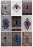 Коллаж keyholes Стоковые Изображения RF