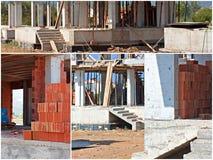 Коллаж строительной площадки Стоковое фото RF