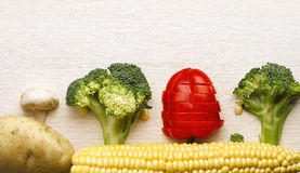Коллаж сырцовых овощей Стоковые Фото
