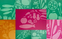 Коллаж с изображениями еды стоковая фотография rf