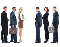 Коллаж с счастливыми усмехаясь молодыми бизнесменами Стоковое фото RF