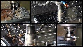Коллаж филировальной машины сток-видео
