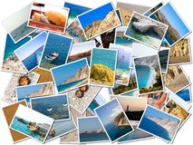 Коллаж фото жизни моря Стоковая Фотография