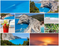Коллаж фото от греческого острова лефкас Стоковая Фотография RF