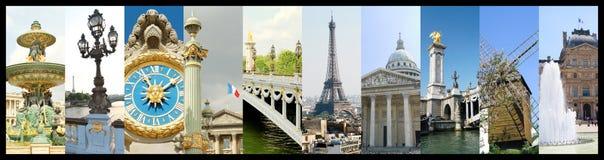Коллаж фото Парижа Стоковые Фотографии RF