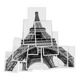 Коллаж фото Эйфелева башни Стоковая Фотография