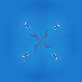 коллаж фракталь плоское небо Стоковая Фотография RF