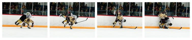 Коллаж хоккея - тазобедренная проверка Стоковые Фотографии RF