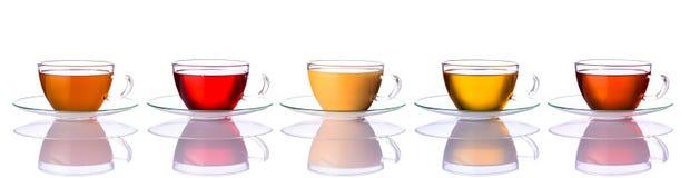 Коллаж чашек чая стоковые фото