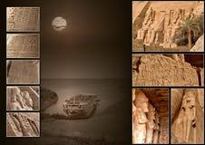 Коллаж 002b Abu Simbel (без названия) Стоковая Фотография