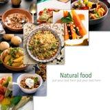 Коллаж Hoto вегетарианской еды Стоковое Изображение RF