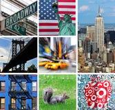 коллаж New York города Стоковое Изображение RF