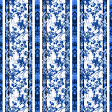 Коллаж Striped шинуазри винтажный флористический Стоковое Изображение RF