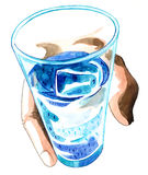 Код воды Стоковое Фото