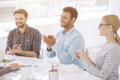 Коллеги на встрече офиса Стоковое фото RF
