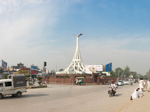 Коллеж Chowk 1-ое октября 2015 Pakhtunkhwa khyber Mardan Стоковые Фотографии RF