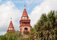 Коллеж Flagler башен, St Augustine, Флорида Стоковое Изображение